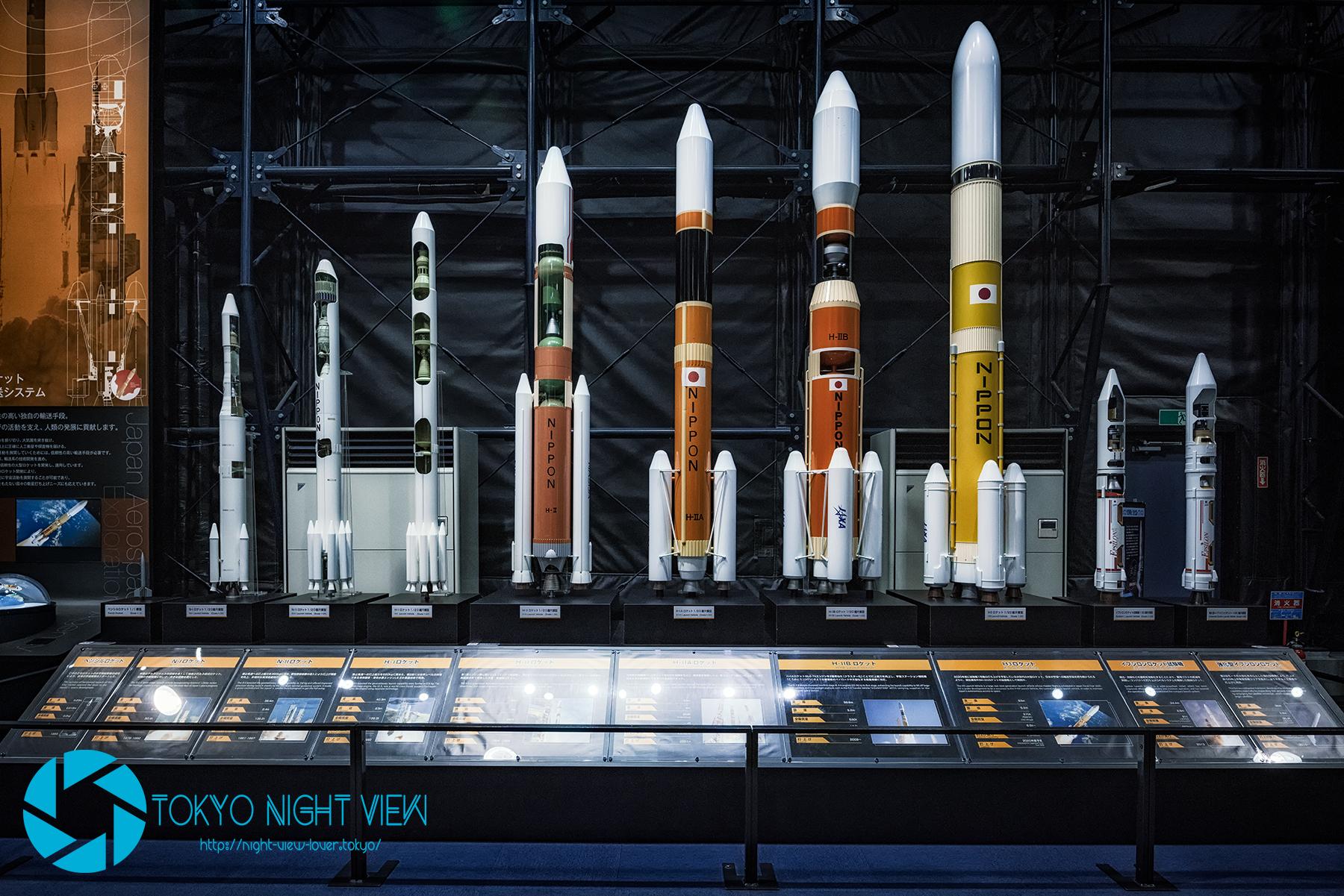 歴代ロケット模型
