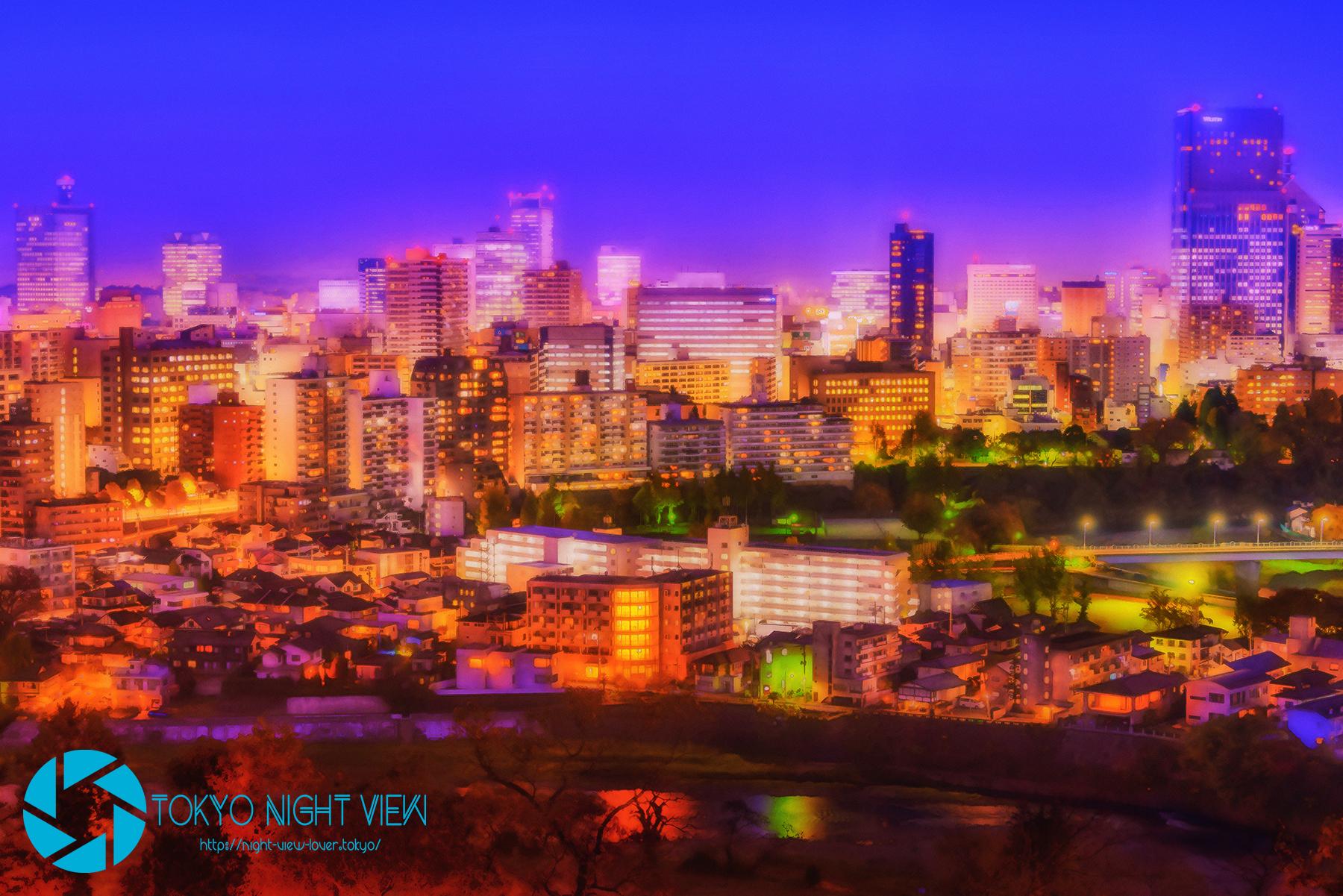 青葉城から見る仙台中心部